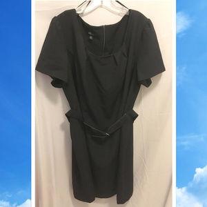 Size 24W AGB Woman Dress Black w/ Belt